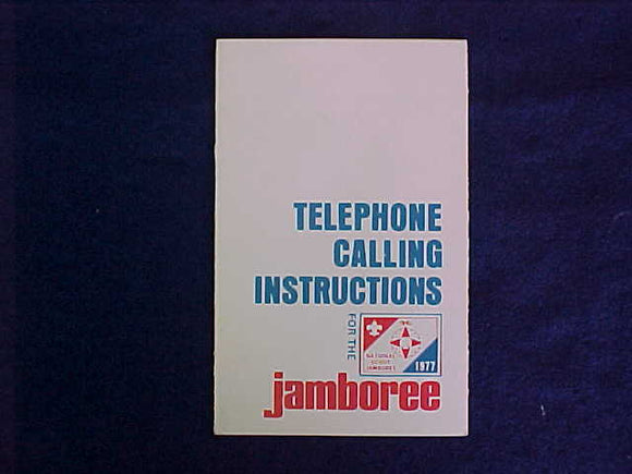 1977 NJ BOOKLET, TELEPHONE CALLING INSTRUCTIONS