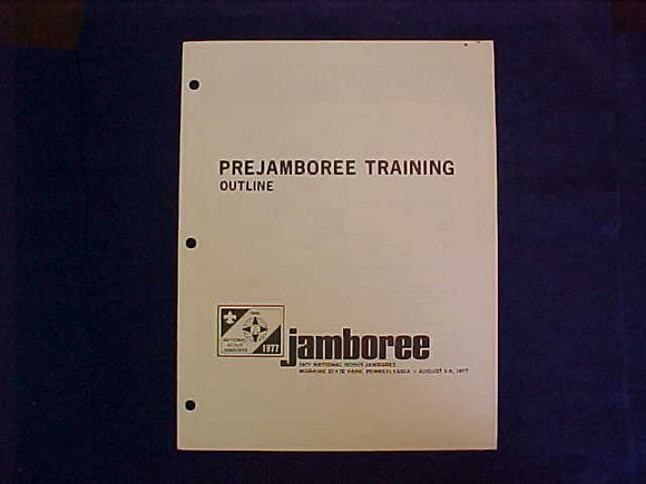 1977 NJ BOOKLET, PREJAMBOREE TRAINING OUTLINE