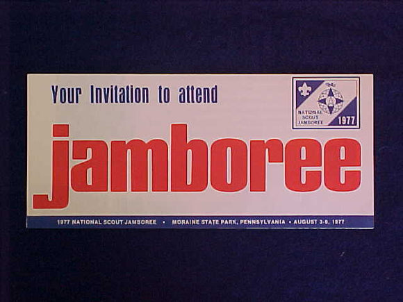 1977 NJ BROCHURE, INVITATION TO ATTEND