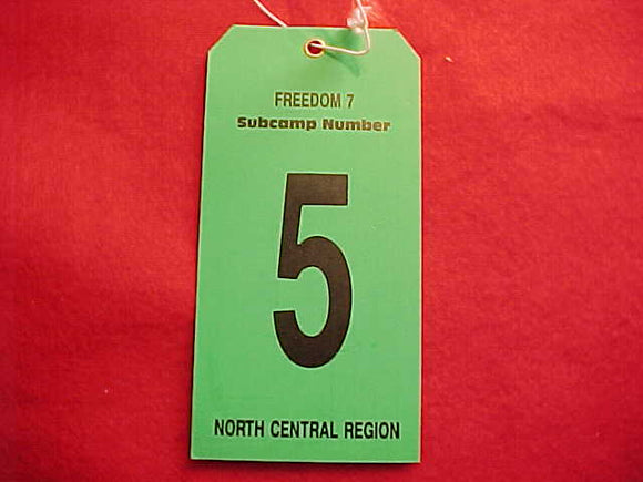 1989 NJ BAGGAGE TAG, NORTH CENTRAL REGION, SUBCAMP 5