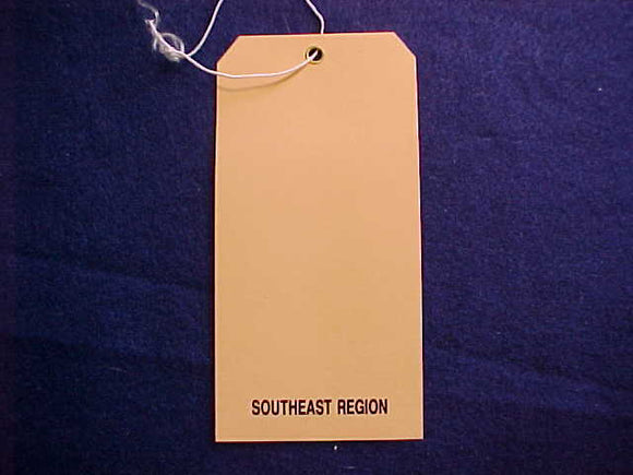 1989 NJ BAGGAGE TAG, SOUTHEAST REGION, BLANK