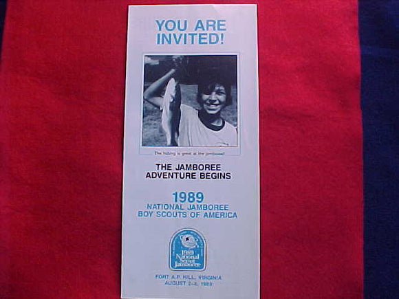 1989 NJ INVITATION TO ATTEND JAMBOREE