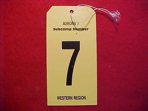 1989 NJ BAGGAGE TAG, SUBCAMP 7, WESTERN REGION