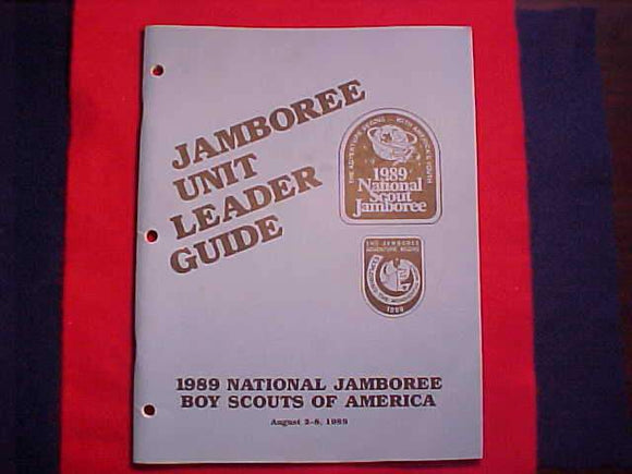 1989 NJ JAMBOREE UNIT LEADER GUIDE