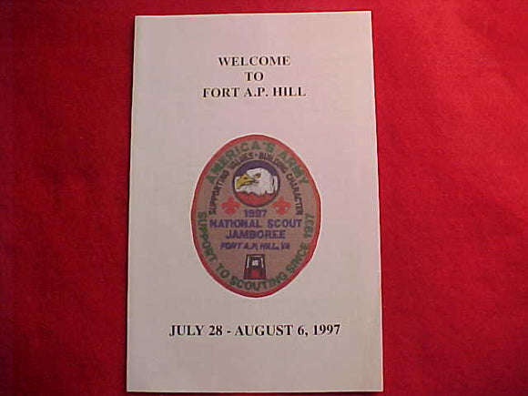 1997 NJ VISITOR GUIDE, FORT A. P. HILL, COMPLIMENTS OF THE BASE SOLDIERS AND CIVILIANS