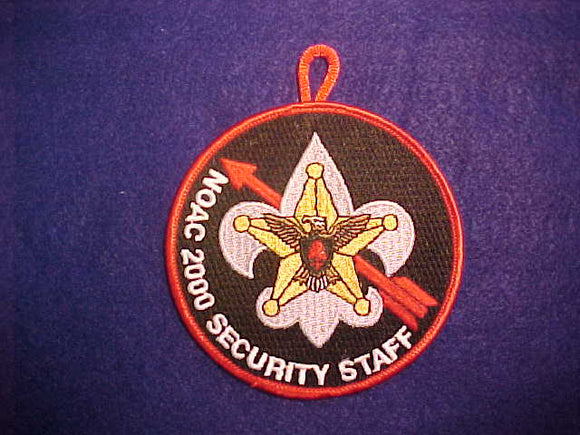 2000 NOAC PATCH, SECURITY STAFF