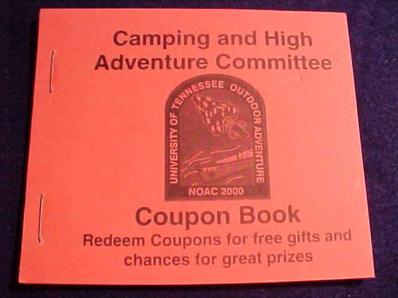 2000 NOAC COUPON BOOK, CAMPING AND HIGH ADVENTURE COMMITTEE