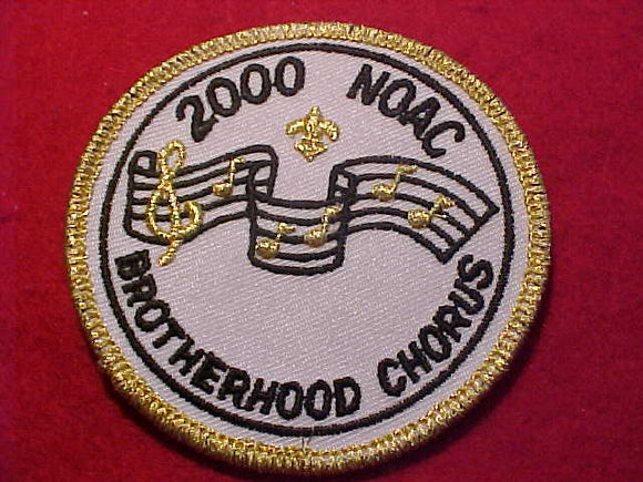 2000 NOAC PATCH, BROTHERHOOD CHORUS, 3