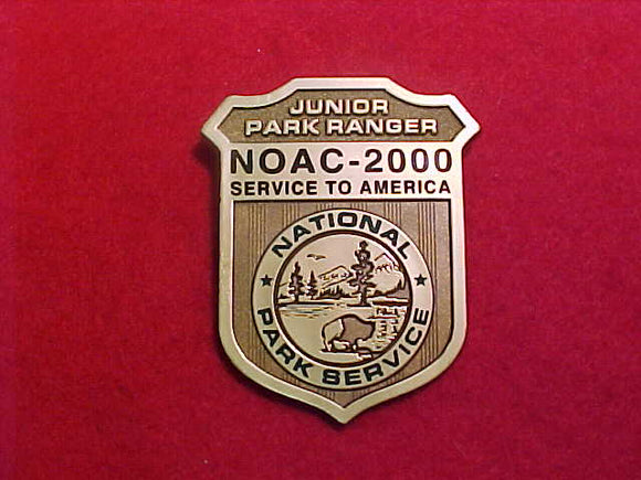 2000 NOAC BADGE, NATIONAL PARK SERVICE JR PARK RANGER
