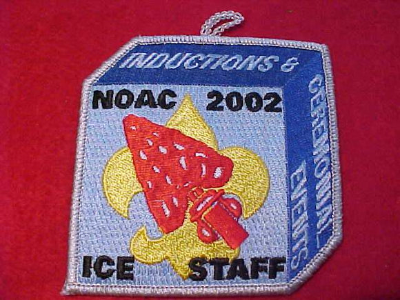 2001 NOAC PATCH, INDUCTIONS & CEREMONIAL EVENTS, ICE STAFF, SMY BDR.