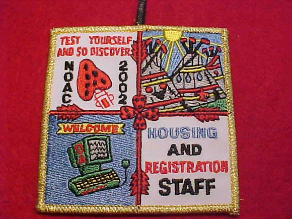 2002 NOAC PATCH, HOUSING & REGISTRATION STAFF, GMY BDR.