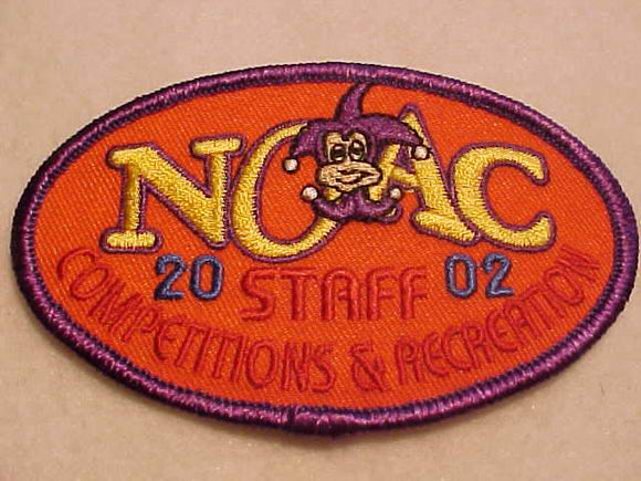 2002 NOAC PATCH, COMPETITIONS & RECREATION PATCH