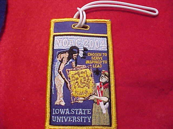 2004 NOAC BAGGAGE TAG, IOWA STATE UNIV., ENBROIDERED