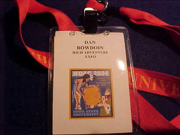 2004 NOAC ID, HIGH ADVENTURE EXPO STAFF, IOWA STATE UNIV., USED