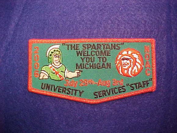 2006 NOAC FLAP, UNIVERSITY SERVICES STAFF, GREEN TWILL