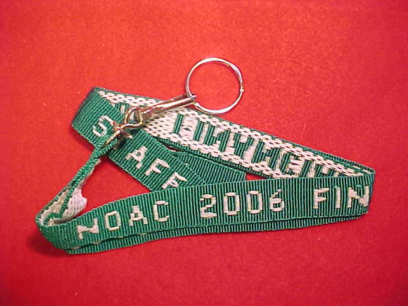 2006 NOAC LANYARD, FINANCIAL SERVICES, GREEN