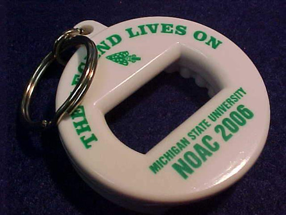 2006 NOAC KEYCHAIN/BOTTLE OPENER, MICHIGAN STATE UNIV.