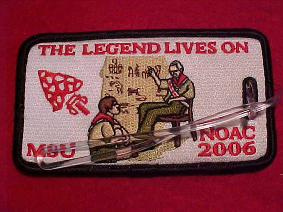 2006 NOAC BAGGAGE TAG, EMBROIDERED