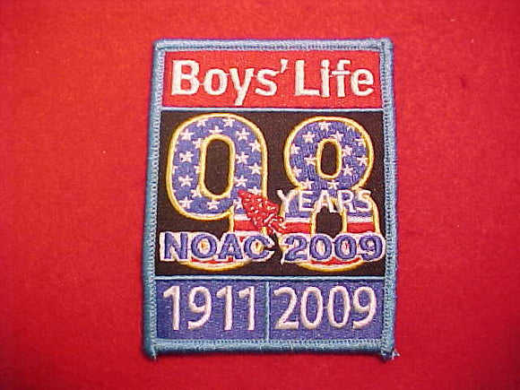 2009 NOAC PATCH, BOY'S LIFE STAFF