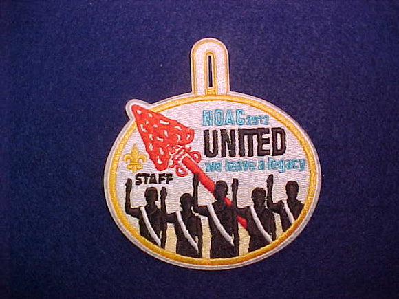 2012 NOAC PATCH, STAFF WITH BUTTON LOOP