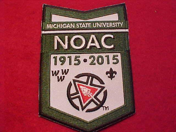 2015 NOAC CHEVRON PATCH, MICHIGAN STATE UNIV.