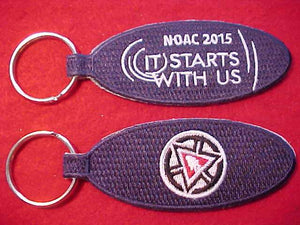 2015 NOAC KEYCHAIN, EMBROIDERED