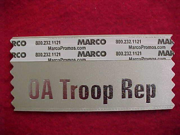 2015 NOAC NAME BADGE RIBBON, OA TROOP REP, BEIGE