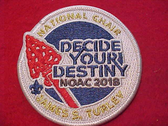 2018 NOAC PATCH, NATIONAL CHAIR JAMES S. TURLEY