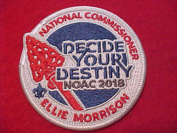2018 NOAC PATCH, NATIONAL COMMISSIONER ELLIE MORRISON
