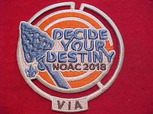 2018 NOAC PATCH, VIA (VERY IMPORTANT ARROWMAN)