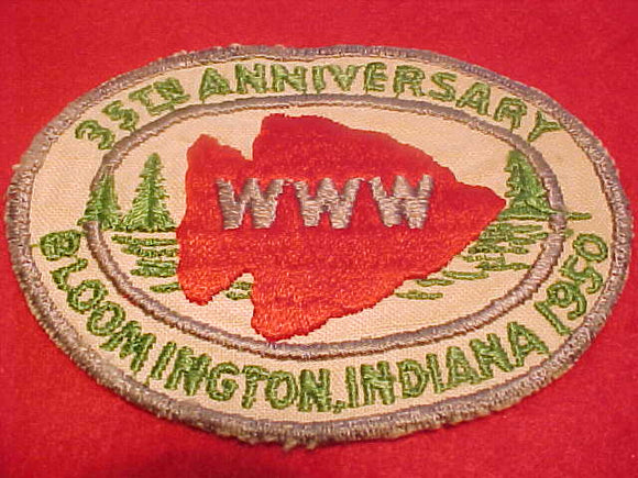 1950 NOAC PATCH, OFFICIAL, USED