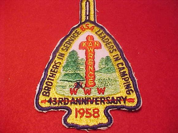 1958 NOAC PATCH, REPRODUCTION, MADE BY THE BSA
