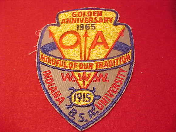 1965 NOAC PATCH, REPRODUCTION, MADE BY THE BSA