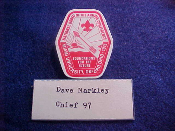 1975 NOAC NAME BADGE