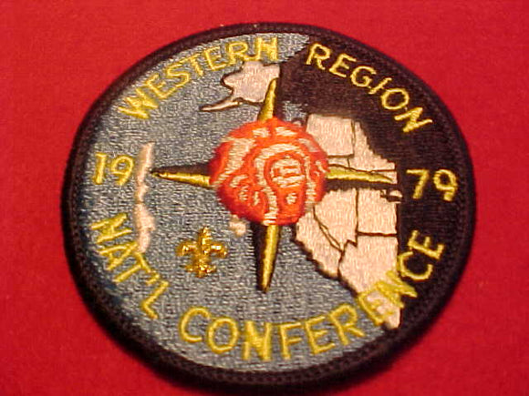 1979 NOAC PATCH, WESTERN REGION, W/ STATE OUTLINES