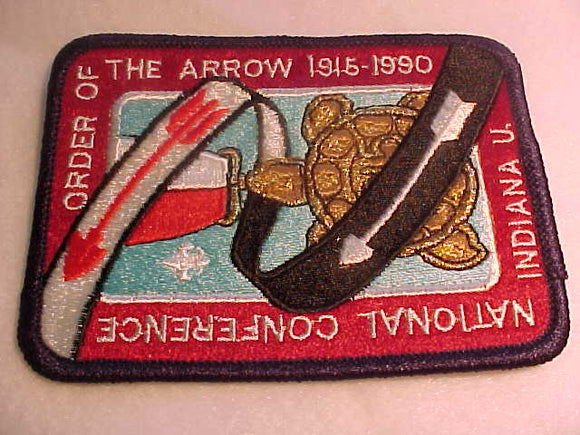 1990 NOAC PATCH, INDIANA U.