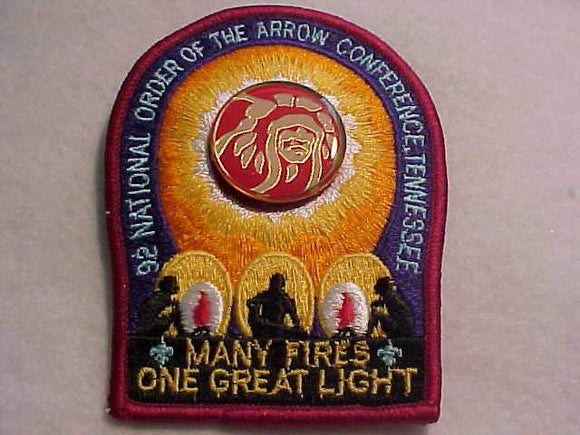 1992 NOAC PATCH + PARTICIPATION PIN