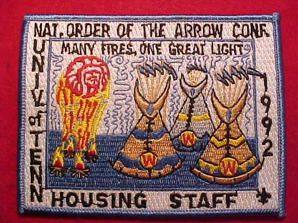 1992 NOAC PATCH, HOUSING STAFF, UNIV. OF TENN