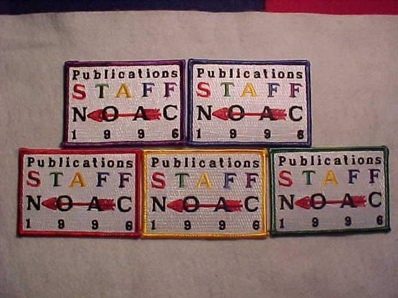 1996 NOAC PATCH SET (5), PUBLICATIONS STAFF