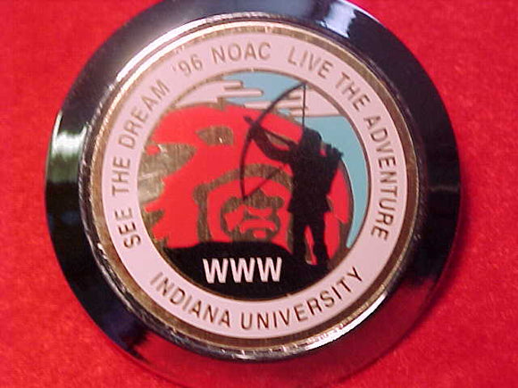 1996 NOAC NECKERCHIEF SLIDE, INDIANA UNIV.