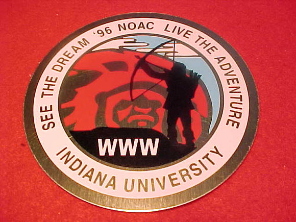 1996 NOAC EMBLEM, METAL, 80MM DIAMETER
