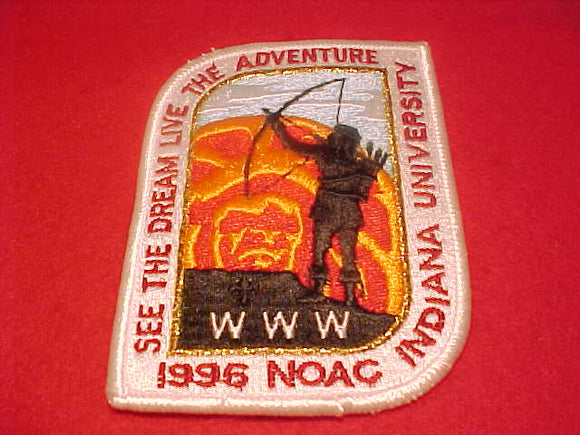 1996 NOAC PATCH, INDIANA UNIV., WHITE BDR.