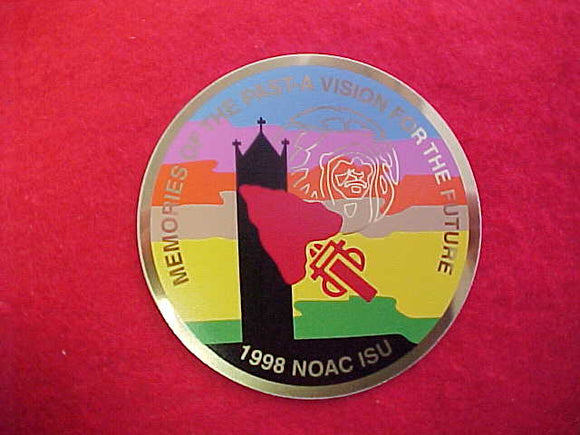 1998 NOAC METAL EMBLEM 80MM DIAMETER