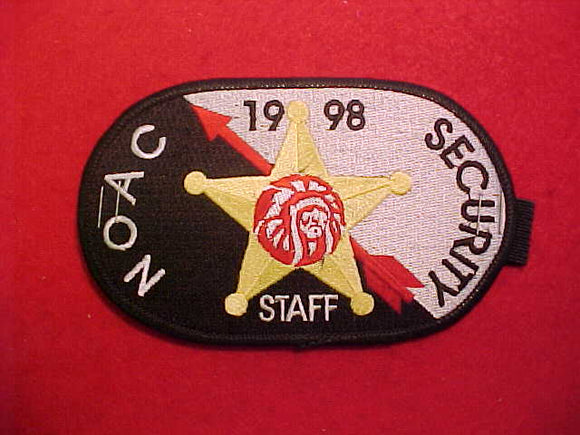 1998 NOAC ARMBAND, SECURITY STAFF