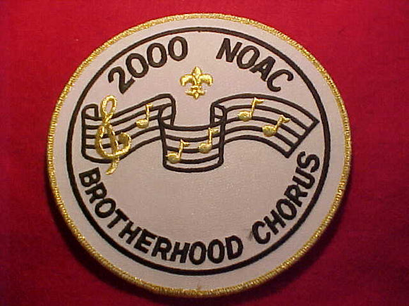 2000 NOAC JACKET PATCH, BROTHERHOOD CHORUS, WHITE TWILL, 6