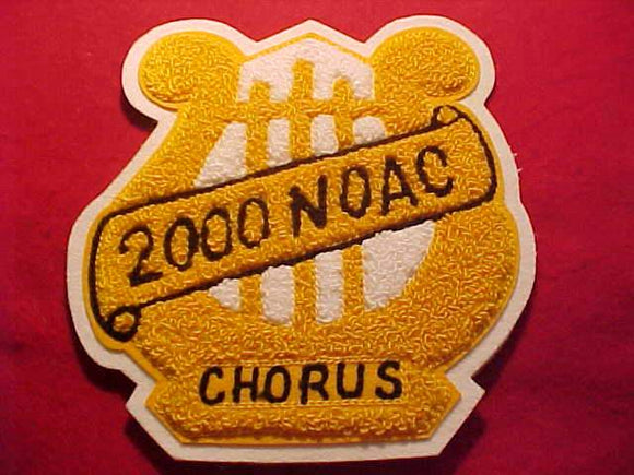 2000 NOAC JACKET PATCH, CHORUS, CHENILLE