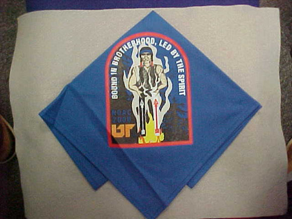 2000 NOAC NECKERCHIEF, SILKSCREENED