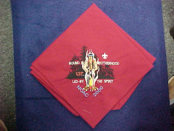 2000 NOAC NECKERCHIEF, EMBROIDERED