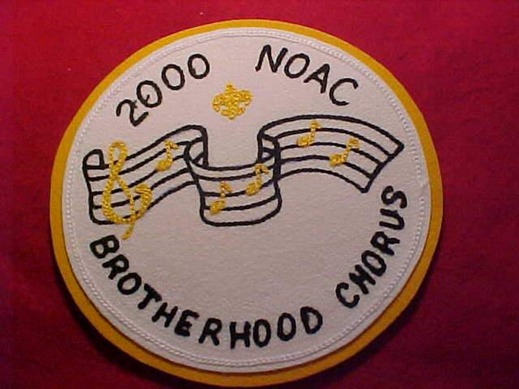 2000 NOAC JACKET PATCH, BROTHERHOOD CHORUS, CHAIN STITCHED FELT ON FELT