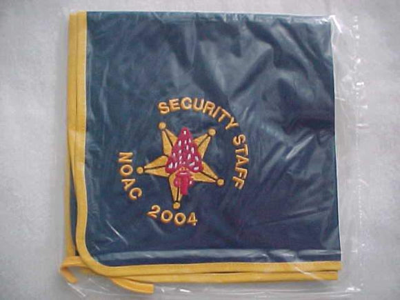 2004 NOAC N/C, SECURITY STAFF, EMBROIDERED, MINT IN ORIG. BAG